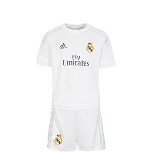 adidas Real Madrid Minikit Home 15/16 Fußballtrikot Kinder weiß / grau