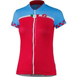 castelli Duello Fahrradtrikot Damen rot/blau