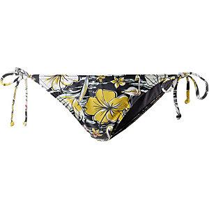 Billabong Tropical Bikini Hose Damen schwarz/gelb/weiß