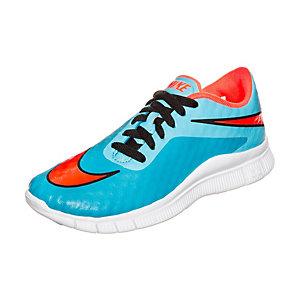 Nike Free Hypervenom Laufschuhe Kinder blau / orange / weiß