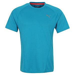 PUMA Faster Than You Laufshirt Herren hellblau