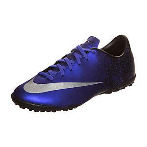 Nike Mercurial Victory V CR7 Fußballschuhe Kinder blau / silber