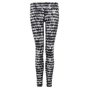 Nike Epic Run Printed Lauftights Damen schwarz / grau