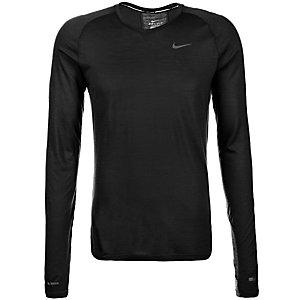 Nike Dri-Fit Wool Laufshirt Herren schwarz / silber