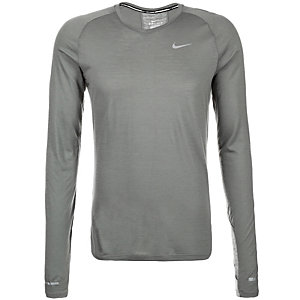 Nike Dri-Fit Wool Laufshirt Herren grau / silber