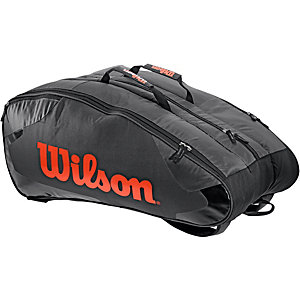 Wilson Burn Team 12PK Bag Tennistasche schwarz/orange
