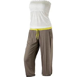 Lascana Jumpsuit Damen weiß/gelb/taupe