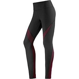Nike Power Legend Tights Damen schwarz/bordeaux