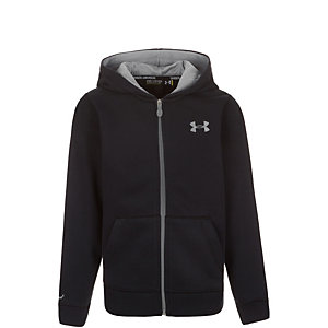 Under Armour Transit Storm Cotton Trainingsjacke Kinder schwarz / grau