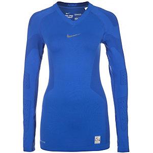 Nike Pro Combat Hypercool Compression Kompressionsshirt Herren blau