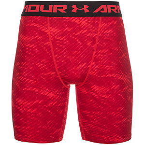 Under Armour HeatGear Armour Printed Compression Shorts Herren rot / schwarz