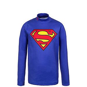 Under Armour ColdGear Superman Alter Ego Funktionsshirt Jungen blau / rot / gelb