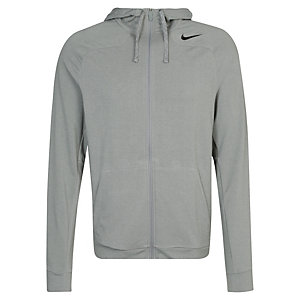 Nike Dri-FIT Touch Fleece Trainingsjacke Herren grau / schwarz