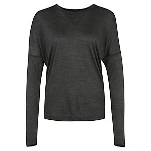 Nike Dri-FIT Wool Funktionsshirt Damen anthrazit