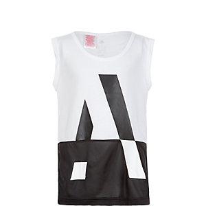 adidas Wardrobe Style Funktionstank Mädchen weiß / schwarz