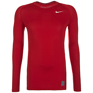 Nike Pro Dry Compression Kompressionsshirt Herren rot / weiß