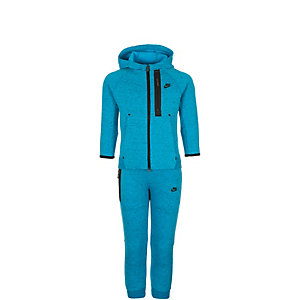 Nike Tech Fleece Two-Piece Trainingsanzug Kinder hellblau / schwarz