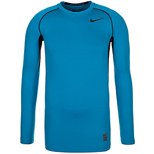 Nike Pro Hyperwarm Dri-FIT Max Funktionsshirt Herren blau / schwarz