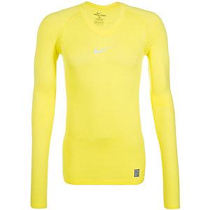 Nike Pro Lightweight Funktionsshirt Herren gelb / grau