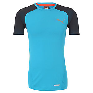 PUMA ACTV PWR Shoulders Funktionsshirt Herren blau / anthrazit