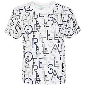 adidas Stellasport Graphic Funktionsshirt Damen weiß / dunkelgrau