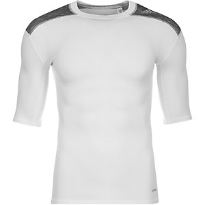 adidas TechFit Base Funktionsshirt Herren weiß / grau