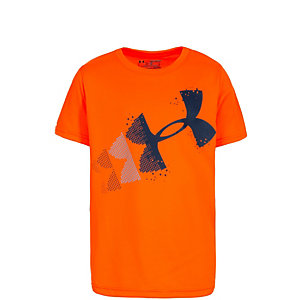Under Armour Rising Pixelated Logo Funktionsshirt Jungen orange / dunkelblau