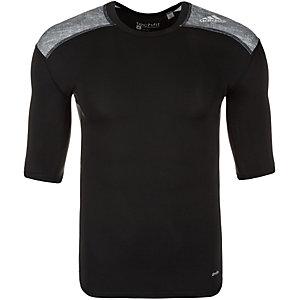 adidas TechFit Base Funktionsshirt Herren schwarz / grau