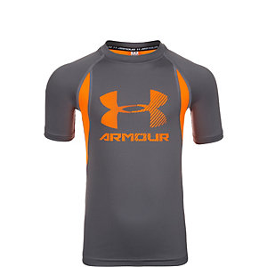 Under Armour HeatGear Up Digi Funktionsshirt Kinder grau / orange