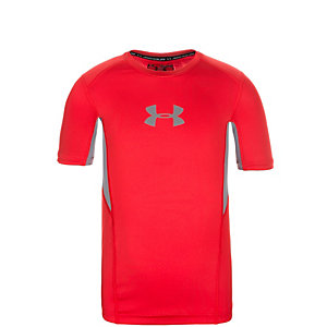 Under Armour HeatGear CoolSwitch Funktionsshirt Jungen rot / grau