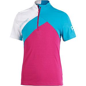 Ziener Fahrradtrikot Mädchen pink/blau