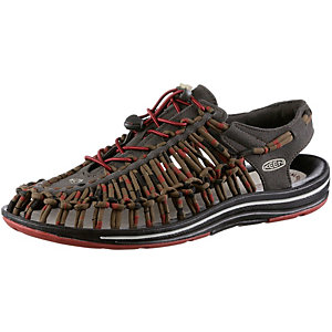 Keen Uneek Stripes Outdoorsandalen Herren braun/rot