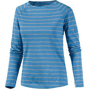 Mammut Wall Langarmshirt Damen blau/weiß