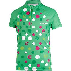 Ziener Fahrradtrikot Mädchen grün/bunt