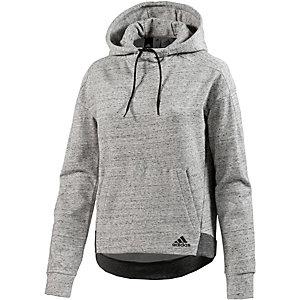 adidas Hoodie Damen hellgrau/melange