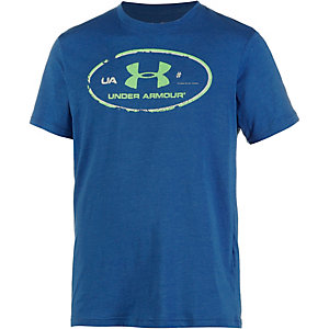 Under Armour HeatGear Lockertag T-Shirt Herren blau