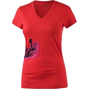 Bergans Tur Printshirt Damen rot