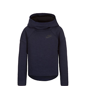 Nike Tech Fleece Over-The-Head Hoodie Mädchen dunkelblau / schwarz