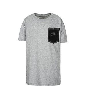 Nike Tech Funktionsshirt Kinder grau / schwarz