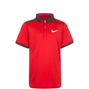 Nike Court Advantage Solid Tennis Polo Kinder rot / anthrazit