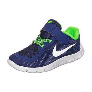 Nike Free 5.0 Laufschuhe Kinder blau / neongrün