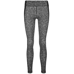 Under Armour HeatGear Shape Shifter Printed Tights Damen schwarz / silber