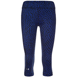 Under Armour HeatGear Armour Printed Capri Tights Damen blau / schwarz