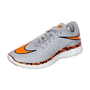 Nike Free Hypervenom Laufschuhe Kinder grau / orange / weiß