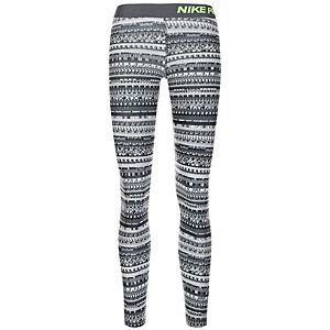 Nike Pro Warm 8 Bit Tights Damen grau / schwarz / lime