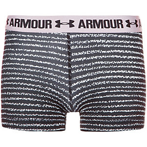 Under Armour HeatGear Armour Printed Shorty Tights Damen schwarz / weiß
