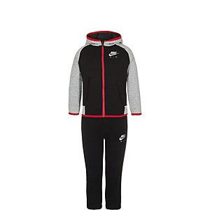 Nike Brushed Fleece Trainingsanzug Kinder schwarz / grau / rot