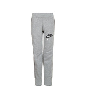 Nike Brushed Fleece Cuffed Trainingshose Kinder grau / schwarz