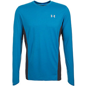 Under Armour HeatGear Charged Wool Laufshirt Herren blau / schwarz
