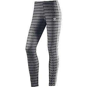 adidas Leggings Damen schwarz/weiß